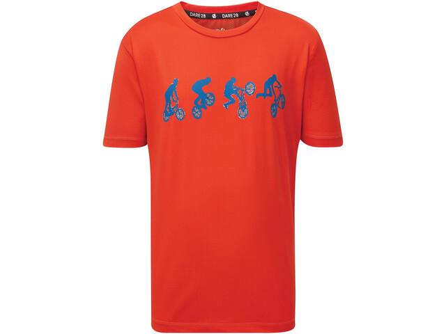 Dare 2b Rightful Camiseta Niños, fiery red